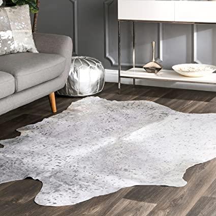 Metallic cowhide rugs